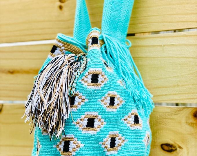 Original  Wayuu Mochila  - Colorful Design  Handmade in Colombia