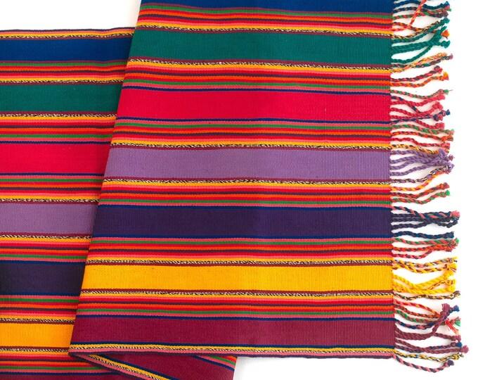 Table Runner Handmade in Guatemala - Red  -Colors