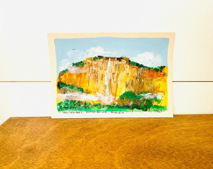 Angel Falls   #8 by G.Armijo     -  Caracas Venezuela. Original Paint. Unframe.
