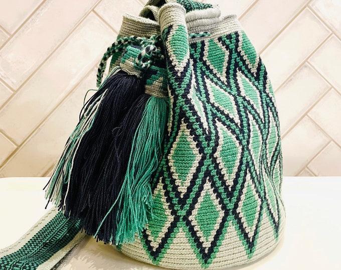 Unique Design. Wayuu Mochila  handmade in La Guajira Colombia.