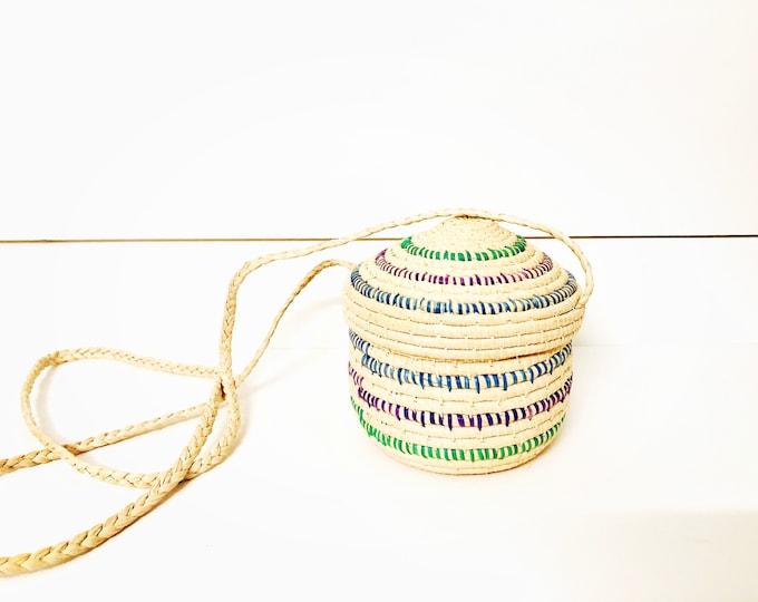 Handmade Warao Indian Woven basket .  4.5 inches tall