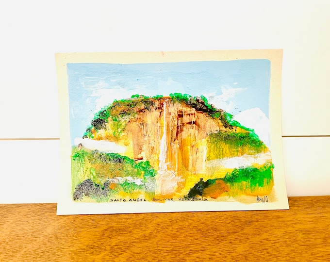 Angel Falls  #1 By G. Armijo. Original Paint. Unframe.