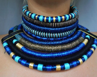 Statement necklace, Tribal Necklace, African Necklaces, Afro Choker, African Necklaces, Ethnic Necklace, African Jewelry for women