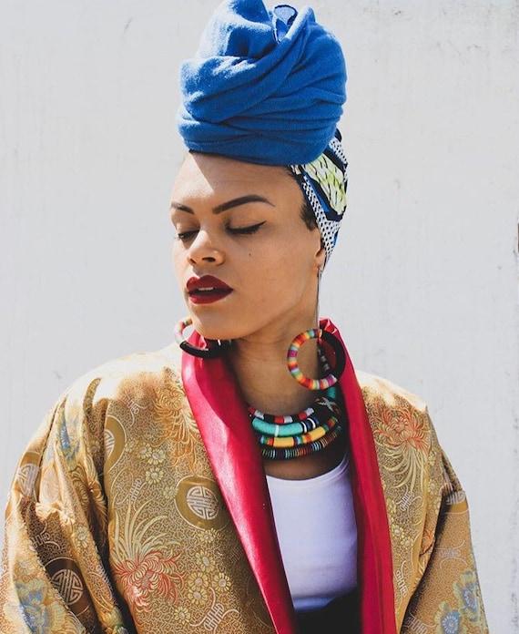 Statement Earrings, African Earrings, Tribal earrings, Large Earrings, Rainbow Earrings, Thread Wrapped Jewelry African Jewelry