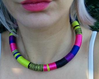 Boho Necklace, Modern Choker, Tribal Necklace, African Necklaces, Choker, African Necklace, Aztec Necklace, Tribal Necklace, African Jewelry