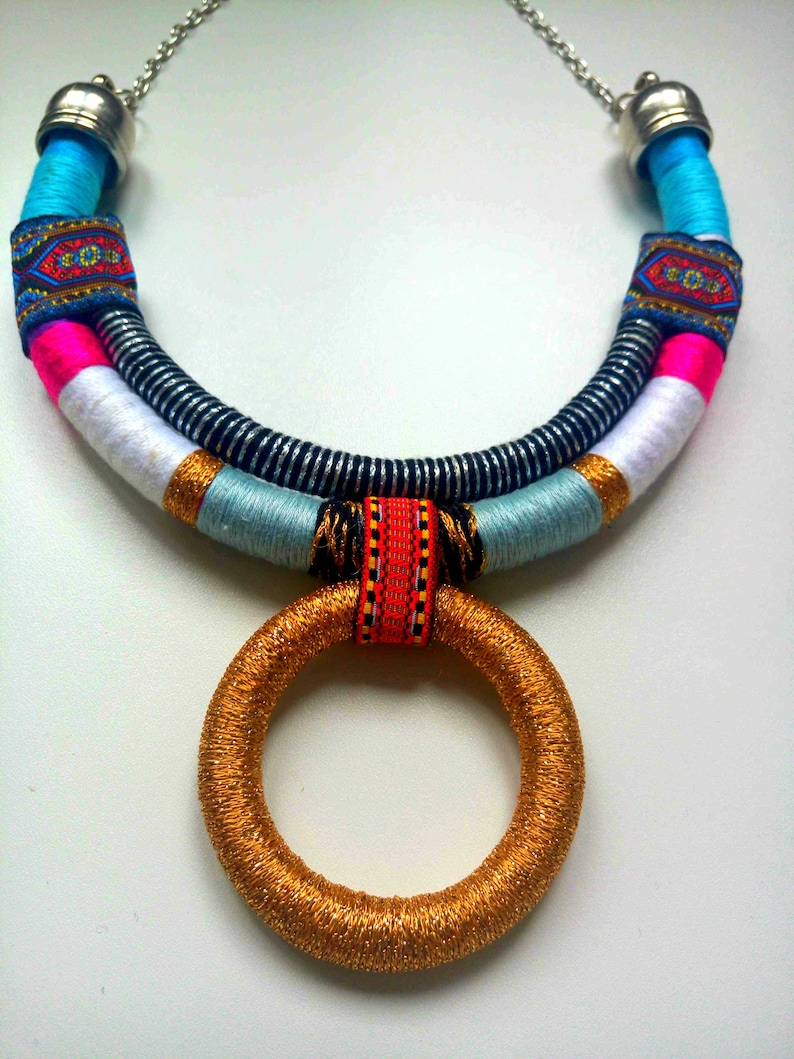 Choker necklace African Choker Gift For Her Statement Necklace Collier Africain African necklace Ethnic Necklace African Jewelry