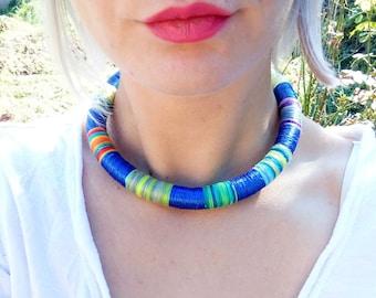 Modern Choker Tribal Necklace, African Necklaces, Rope Choker, African Necklace, Aztec Necklace, African Necklaces, for Her, African Jewelry