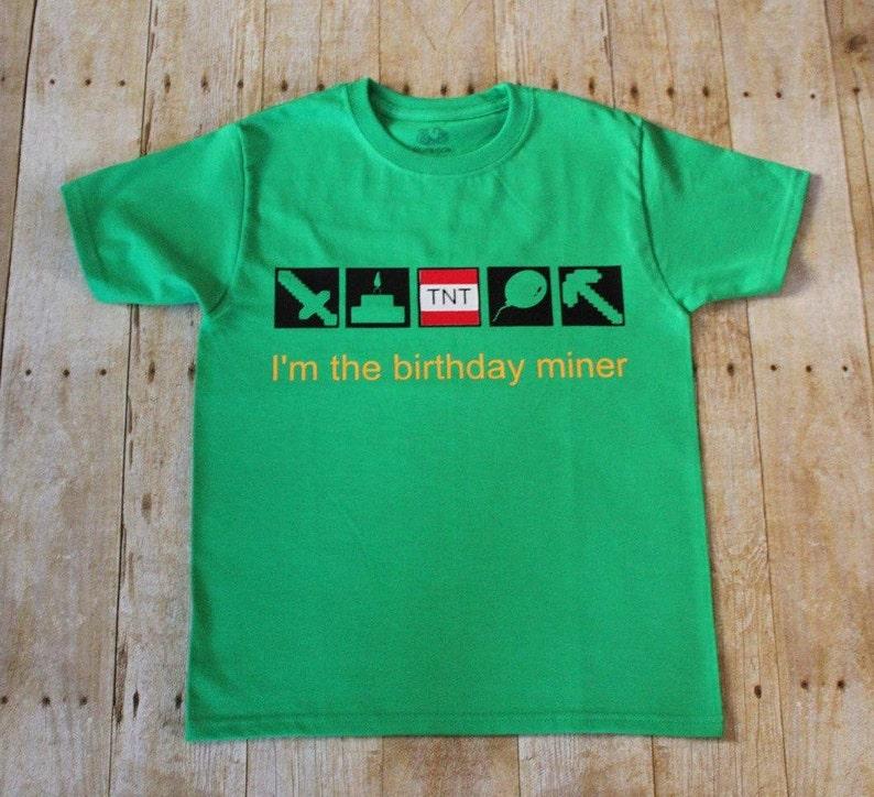 Birthday Minecraft Unisex T-shirt image 0