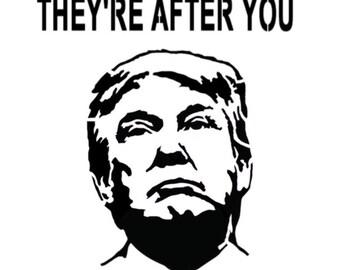 "Donald Trump President Profile 8.5/"" x 11/"" Custom Stencil FAST FREE SHIPPING"