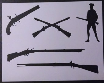 photo regarding Free Printable Camo Stencils for Guns referred to as Gun stencils Etsy