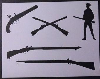 photo regarding Free Printable Camo Stencils for Guns referred to as Gun stencils Etsy
