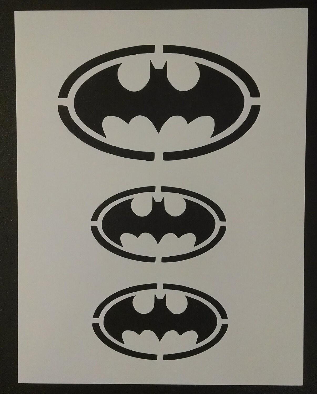 Batman Symbol Large Small Custom Stencil Fast Free Shipping Etsy