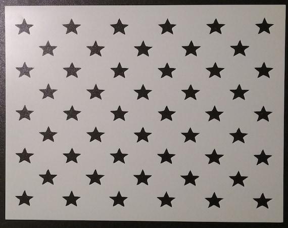 50 Stars Flag Star Pattern Custom Stencil Fast Free Shipping Etsy