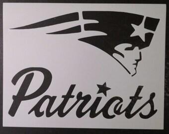 New England Patriots Custom Stencil FAST FREE SHIPPING