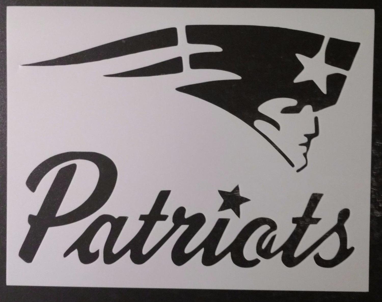 New England Patriots Custom Stencil Fast Free Shipping Etsy Pin Marlin Model 336 Parts Diagram On Pinterest 50