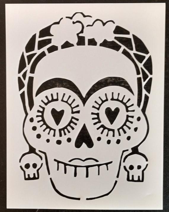 00f58f1f93592 Day of the Dead Dia de los Muertos Female Sugar Skull Custom | Etsy