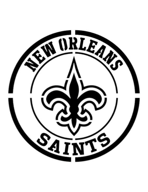 "New Orleans Saints 8.5/"" x 11/"" Custom Stencil FAST FREE SHIPPING 18"