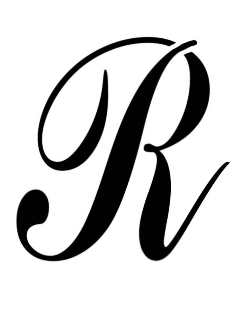 Large Big Script Cursive Letter R Custom Stencil FAST FREE | Etsy