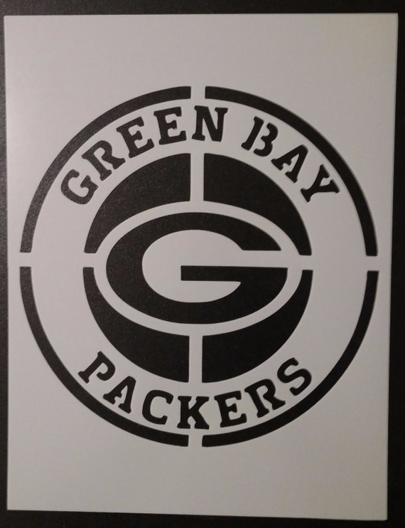 Green Bay Packers Logo Stencil Painting 12 x 12 Canvas