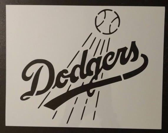 La Dodgers Los Angeles La Custom Stencil Fast Free Shipping Etsy