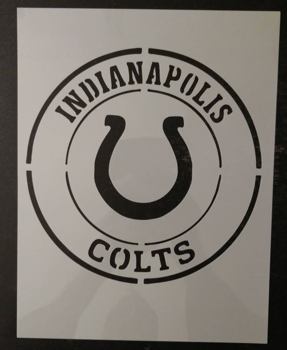 Indianapolis Colts Custom Stencil FAST FREE SHIPPING
