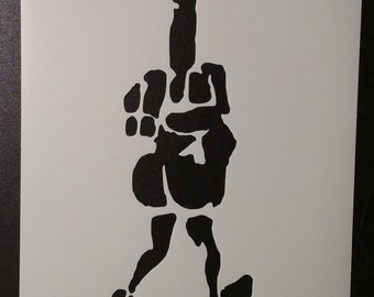 Walking Hand Giving Finger Bird Custom Stencil FAST FREE SHIPPING