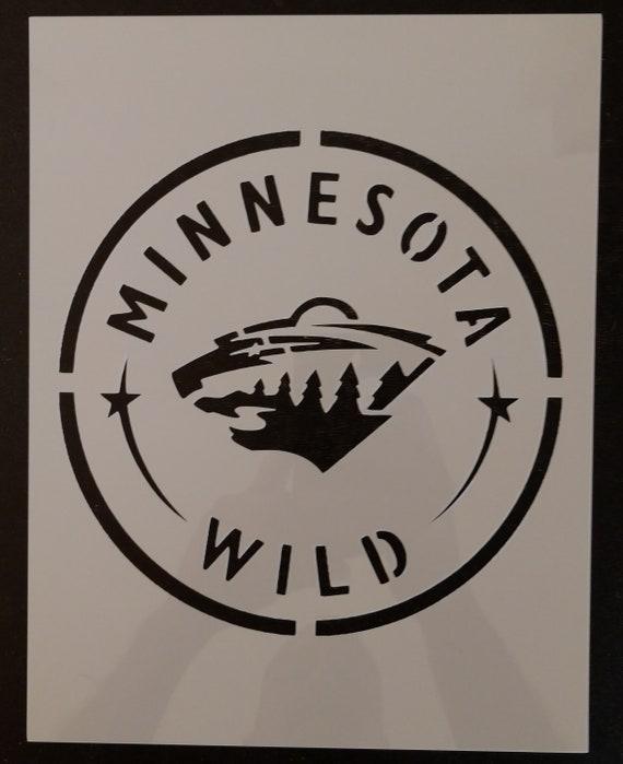 Minnesota Wild Custom Stencil FAST FREE SHIPPING