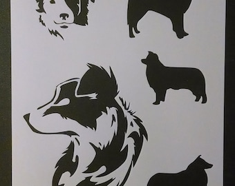 Border Collies Collie Dog Dogs Custom Stencil FAST FREE SHIPPING