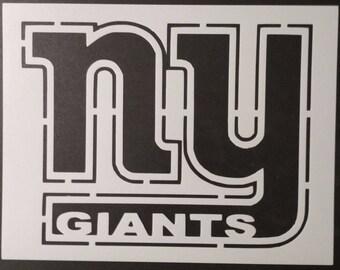 NY New York Giants Custom Stencil FAST *Free* SHIPPING