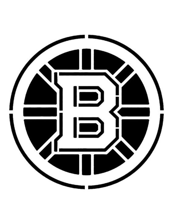 "Boston Bruins 8.5/"" x 11/"" Custom Stencil FAST FREE SHIPPING"