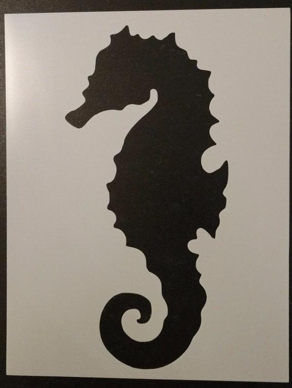 "Seahorse Sea Horse 8.5/"" x 11/"" Stencil FREE SHIPPING"