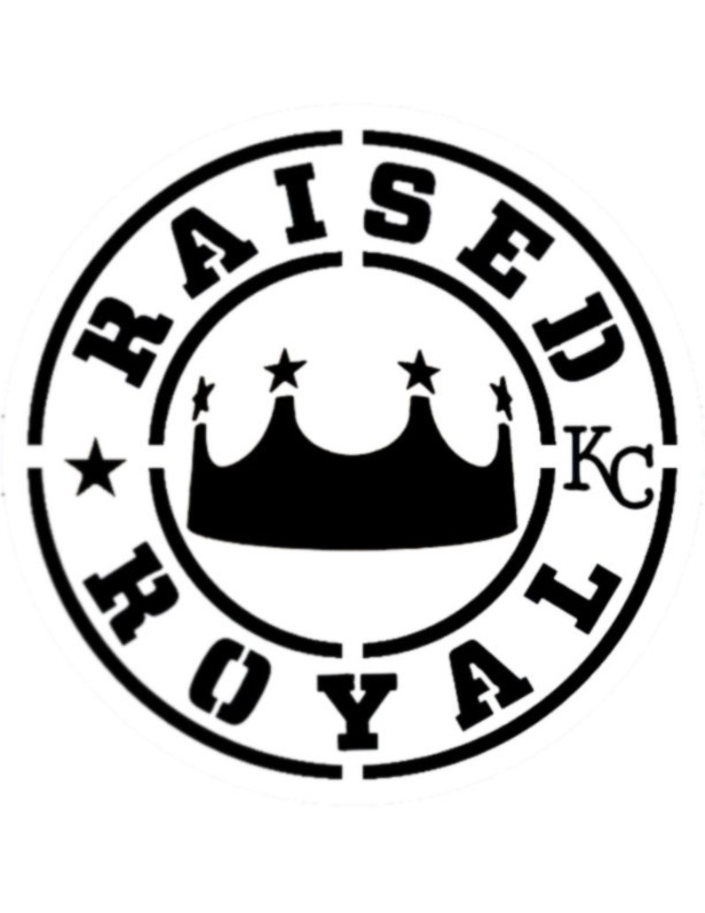 Raised Royal Kansas City Royals Custom Stencil FAST FREE SHIPPING
