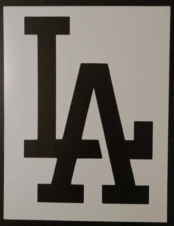 La La Dodgers Los Angeles Custom Stencil Fast Free Shipping Etsy