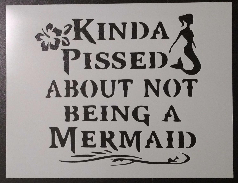 """Skeleton Mermaid 8.5/"""" x 11/"""" Custom Stencil FAST FREE SHIPPING"""