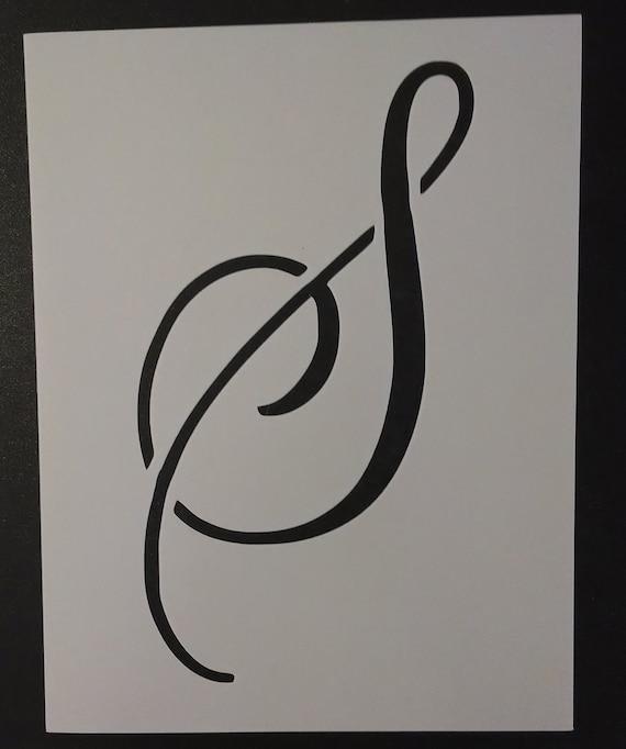 Large Big Script Cursive Letter S Custom Stencil FAST FREE ...