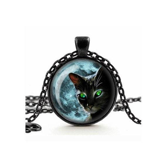 Blue Mystic Moon Handmade Necklace