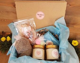Spa Gift Set Mothers Day Anniversary For Best Friend Wellness Hamper Birthday Vegan Ayurvedic Soap