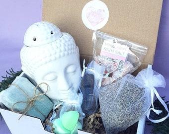 Spa Gift Set Mothers Day Anniversary For Mom Wellness Hamper Birthday GiftVegan Ayurvedic Soap Oil Burner