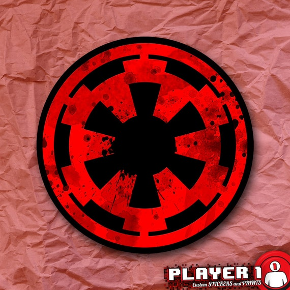 Galactic Empire Symbol Star Wars Sticker Etsy