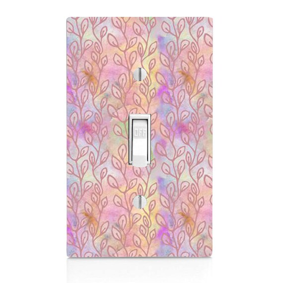 Pastel Vines Leaves Gift Light Switch Cover Home Decor Etsy