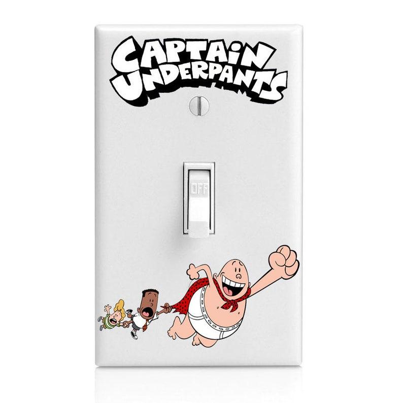 Captain Underpants Kids Light Switch Cover Kitchen Decor Etsy