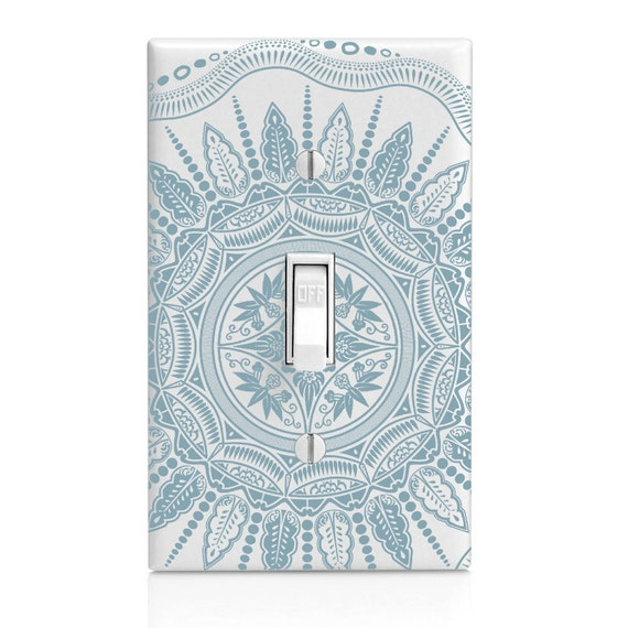 Home Decor Light Switch Cover Baby Blue Solid Etsy