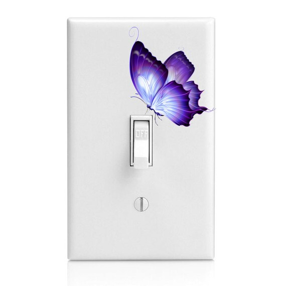 Delicate Purple Butterfly Fanciful Insect Light Switch Etsy
