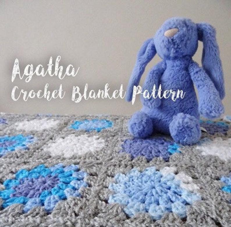 Agatha Crochet Baby Blanket Pattern Granny Circles And Squares Etsy