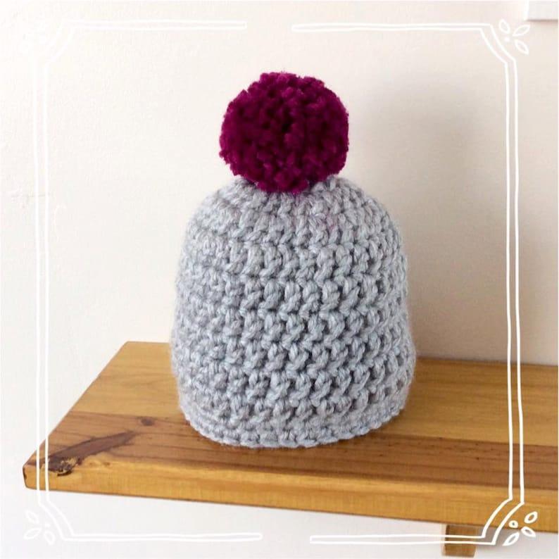 Morgan Crochet Super Chunky Bobble Hat Pattern pom pom hat  3a182367972