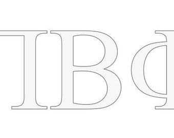 pi beta phi letter window decal
