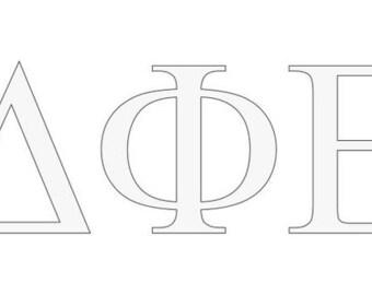Delta Phi Epsilon Letter Window Decal