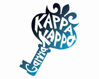 Kappa Kappa Gamma Mascot Greek Name Sticker