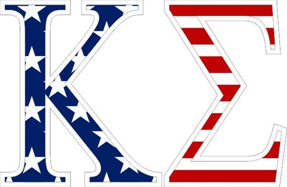 Greek Letter Before Kappa.Kappa Sigma American Flag Greek Letter Sticker 2 5