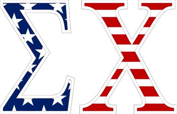 sigma chi american flag greek letter sticker 25